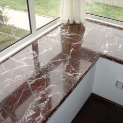 Подоконник-столешница для углового окна